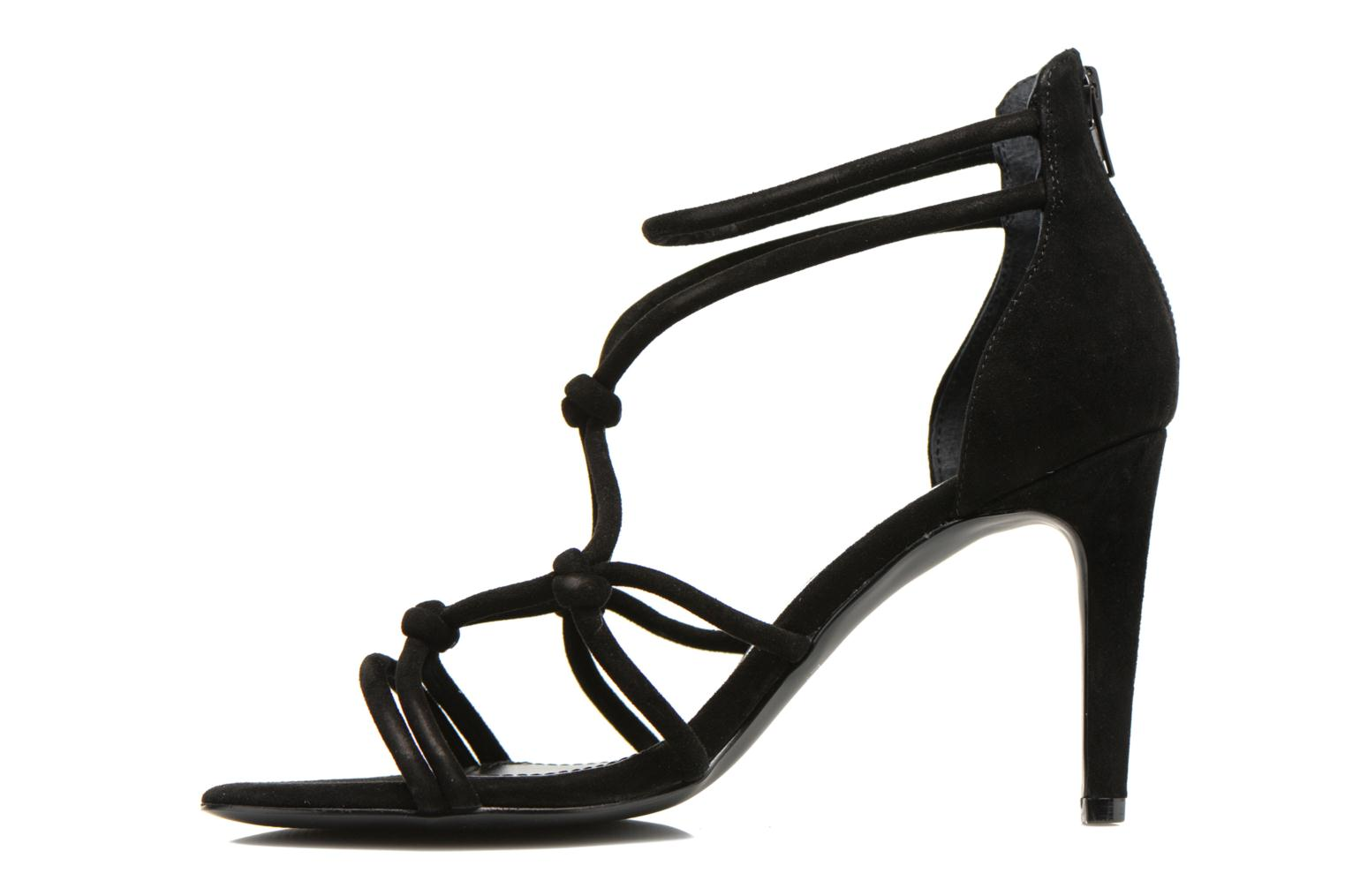 Sandals Minelli F93 847/VEL Black front view