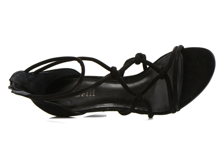 Sandalen Minelli F93 847/VEL schwarz ansicht von links