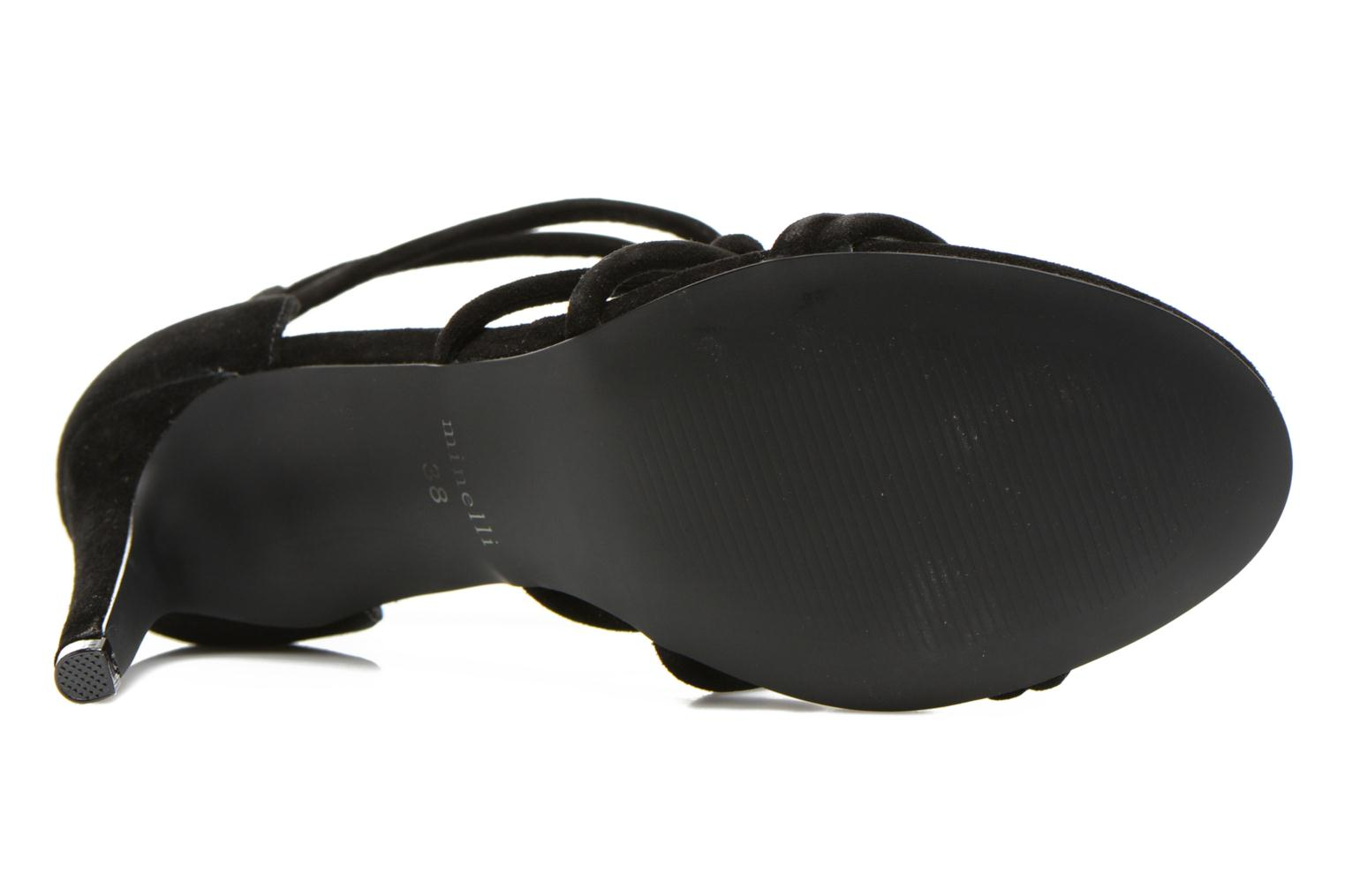 Sandals Minelli F93 847/VEL Black view from above