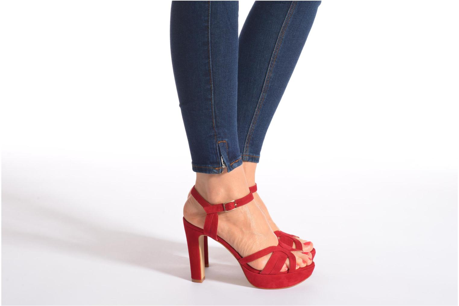 Sandals Minelli F93 688/VEL Red view from underneath / model view