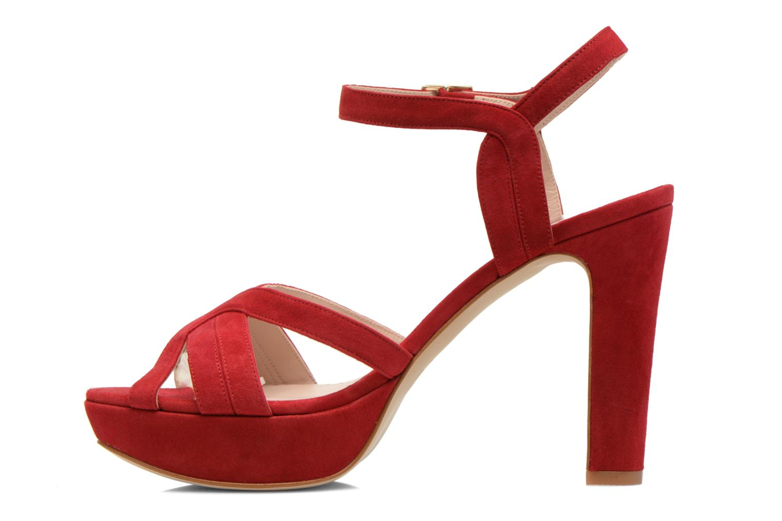 Sandals Minelli F93 688/VEL Red front view
