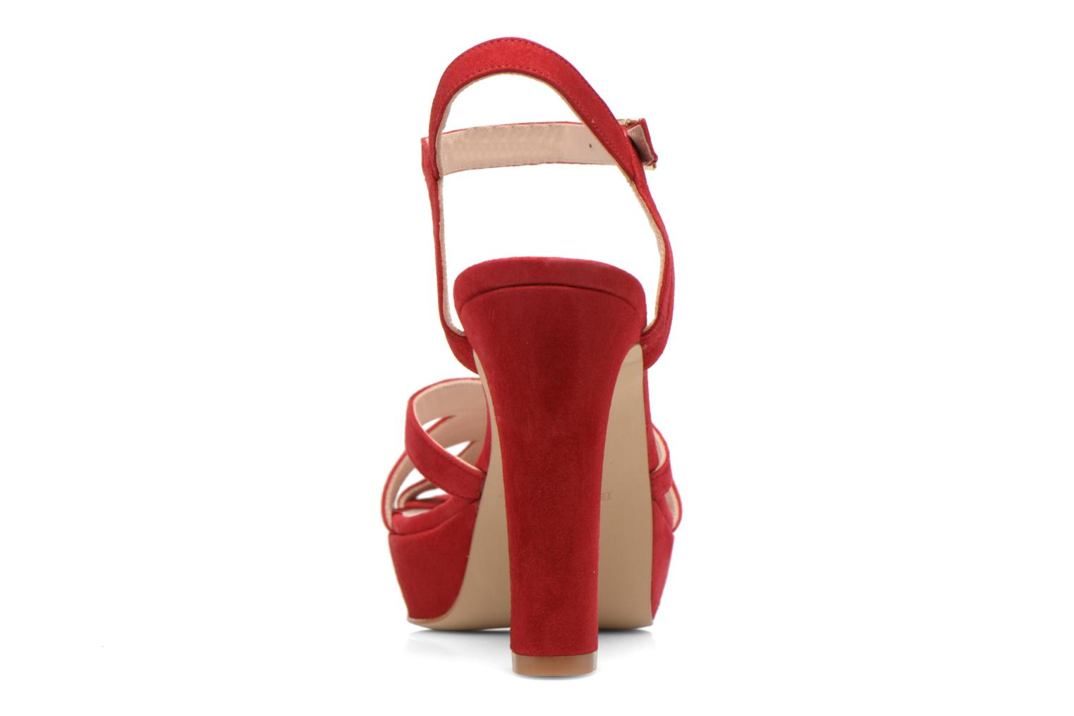 Sandals Minelli F93 688/VEL Red view from the right