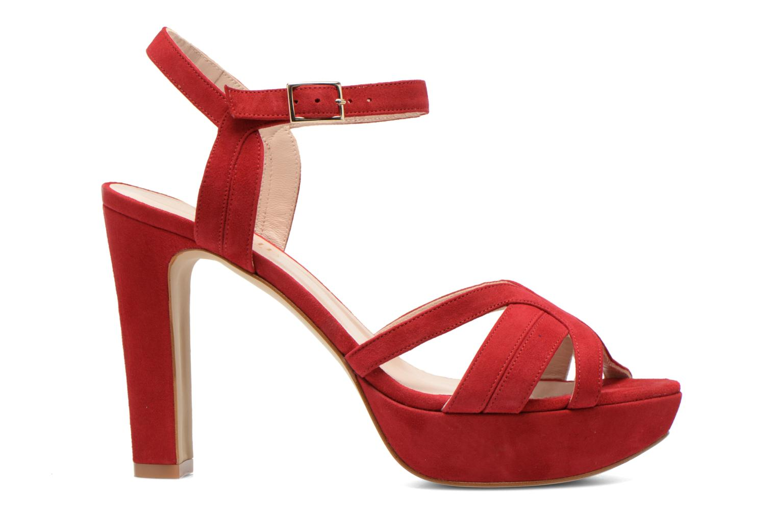 Sandals Minelli F93 688/VEL Red back view