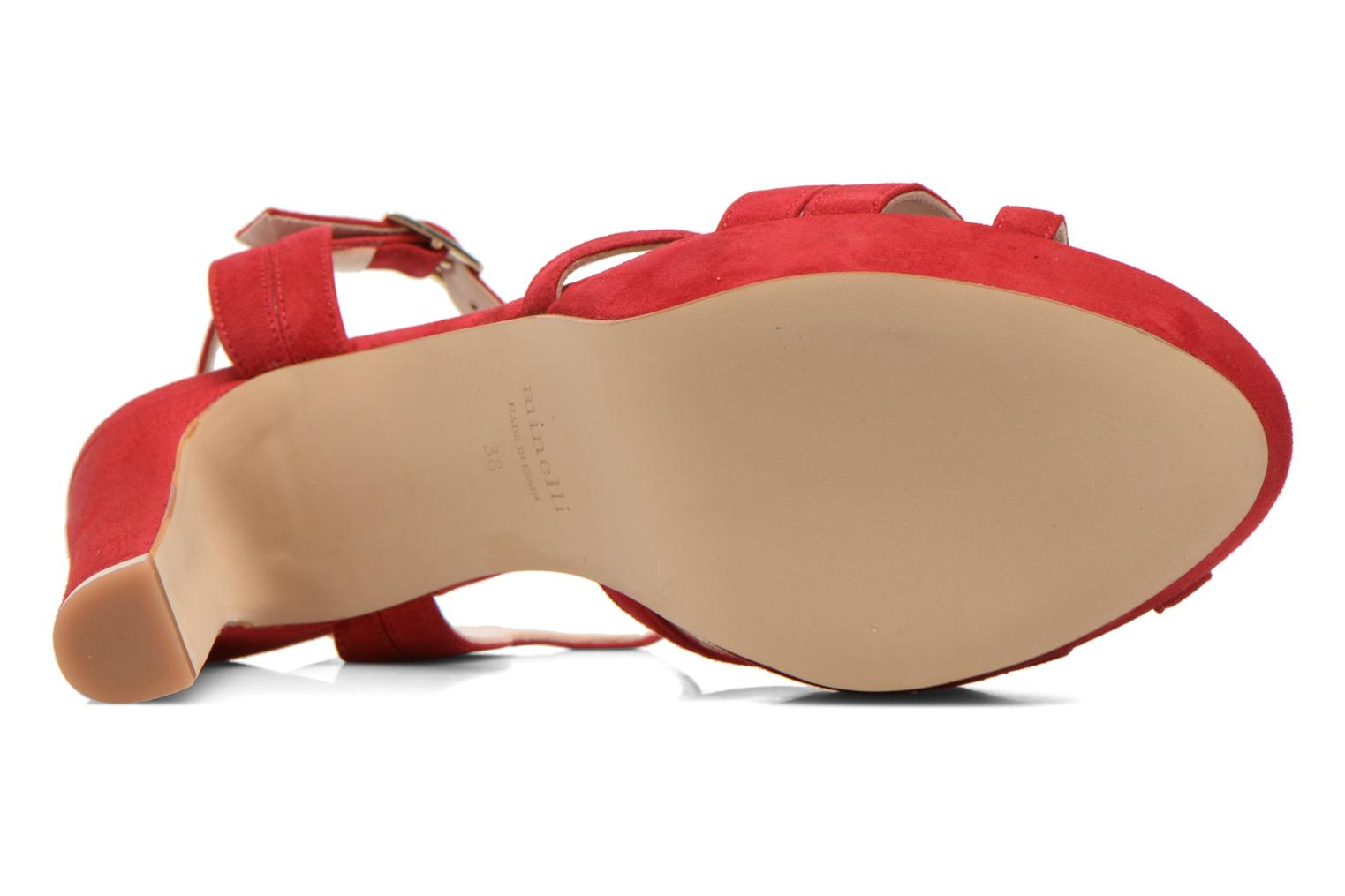 Sandals Minelli F93 688/VEL Red view from above