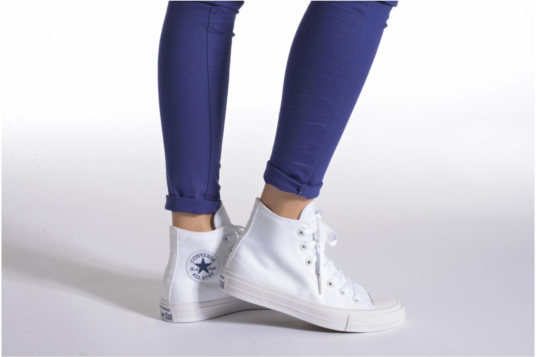 Sneaker Converse Chuck Taylor All Star II Hi W blau ansicht von unten / tasche getragen