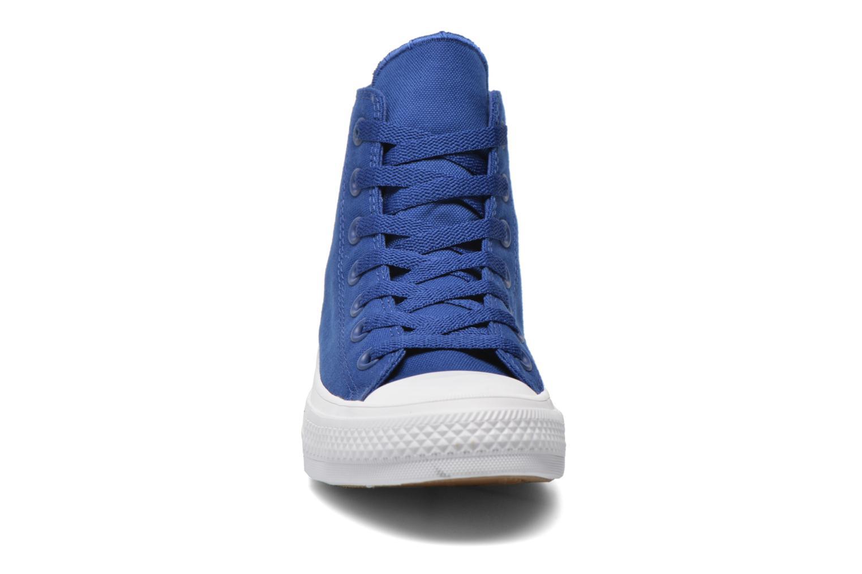 Sneaker Converse Chuck Taylor All Star II Hi W blau schuhe getragen
