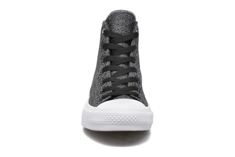 Sneaker Converse Chuck Taylor All Star II Hi W grau schuhe getragen