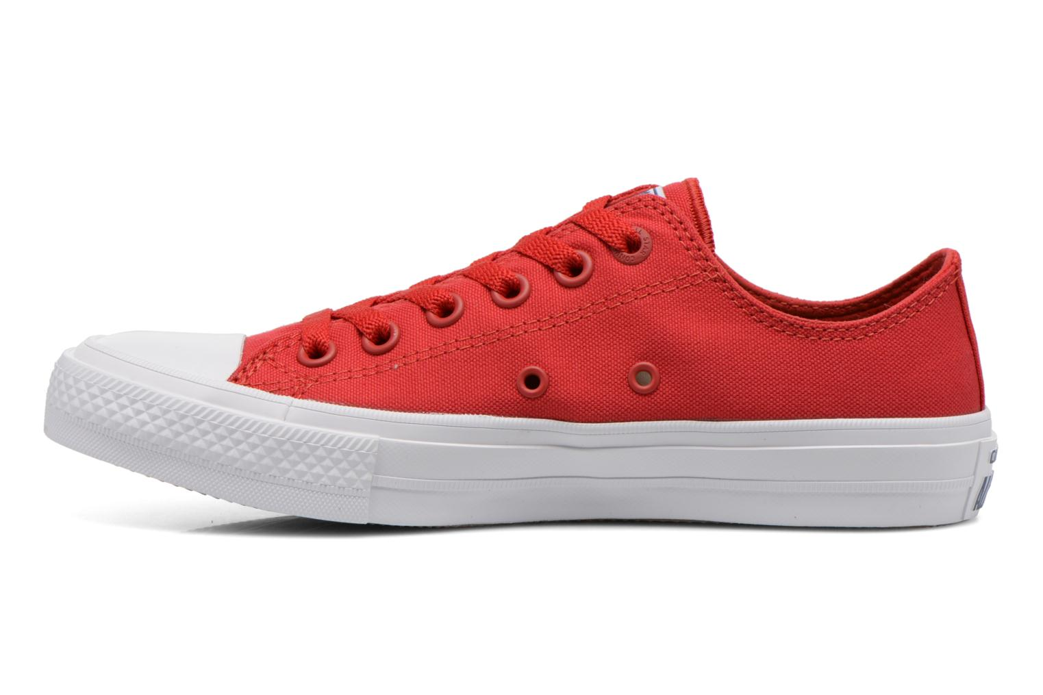 Baskets Converse Chuck Taylor All Star II Ox W Rouge vue face