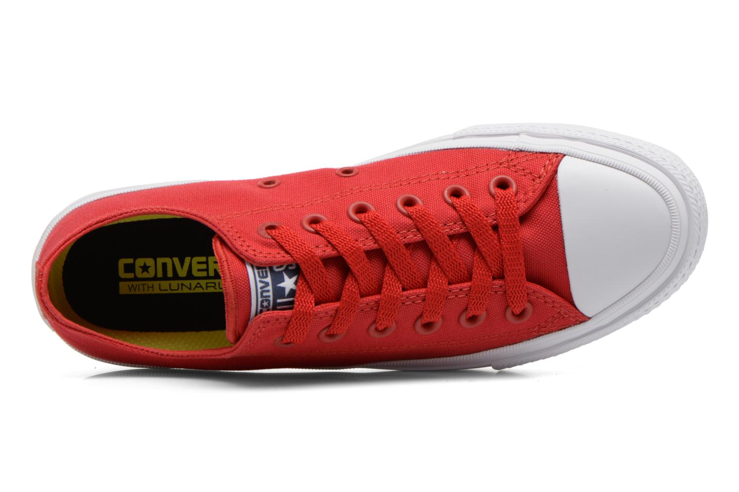Trainers Converse Chuck Taylor All Star II Ox W Red view from the left