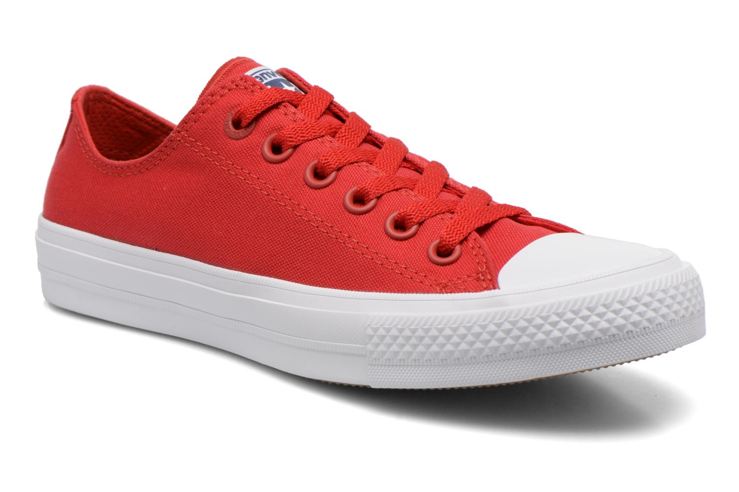 Trainers Converse Chuck Taylor All Star II Ox W Red detailed view/ Pair view