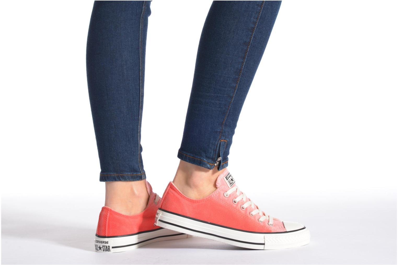 Sneaker Converse Chuck Taylor All Star Ox Sunset Wash W mehrfarbig ansicht von unten / tasche getragen