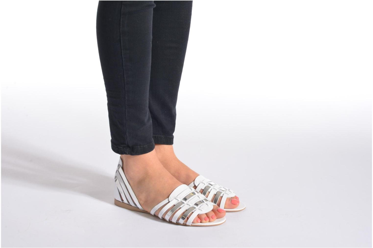 Sandals I Love Shoes Damuse White view from underneath / model view