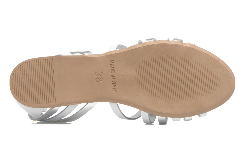 Sandales et nu-pieds I Love Shoes Damuse Blanc vue haut