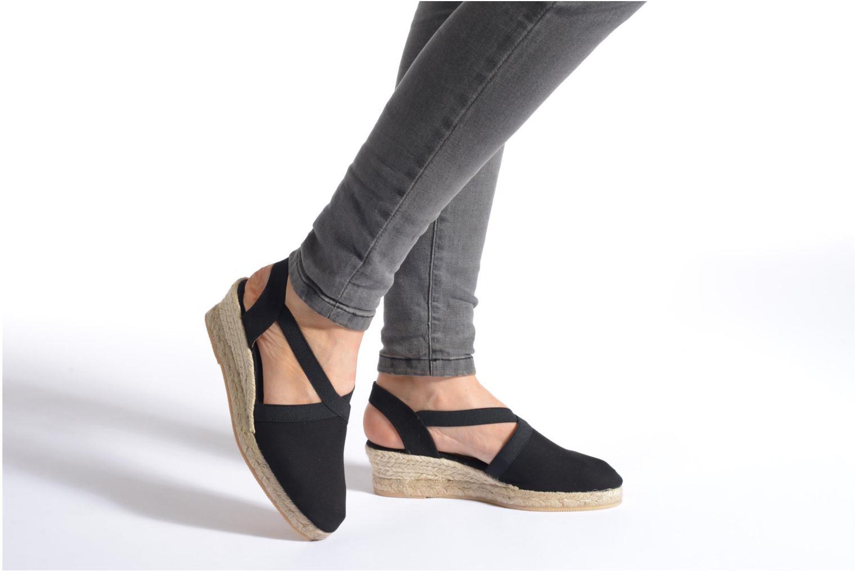 Sandales et nu-pieds Georgia Rose Dalik Rouge vue bas / vue portée sac