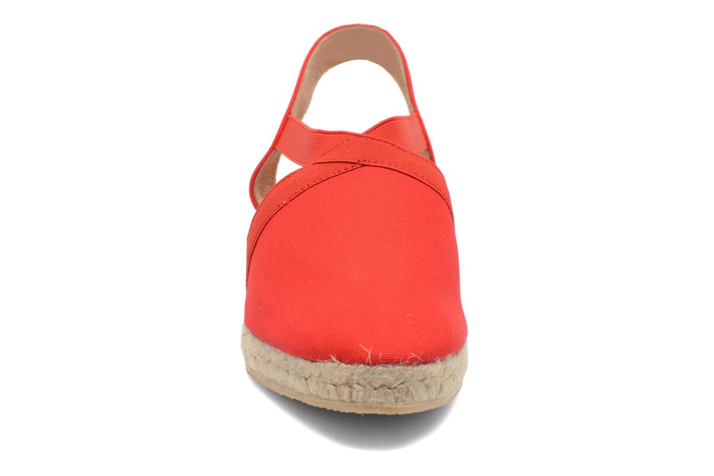 Sandales et nu-pieds Georgia Rose Dalik Rouge vue portées chaussures