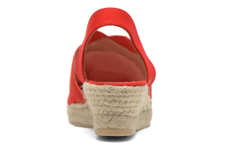 Sandales et nu-pieds Georgia Rose Dalik Rouge vue droite