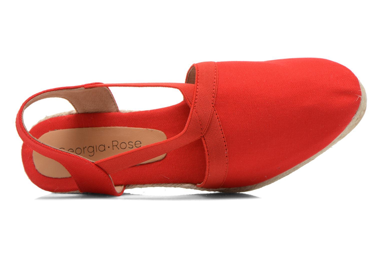 Sandales et nu-pieds Georgia Rose Dalik Rouge vue gauche