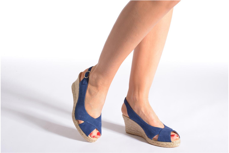 Sandales et nu-pieds Georgia Rose Daloup Bleu vue bas / vue portée sac