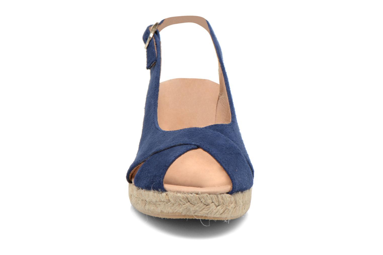 Sandales et nu-pieds Georgia Rose Daloup Bleu vue portées chaussures