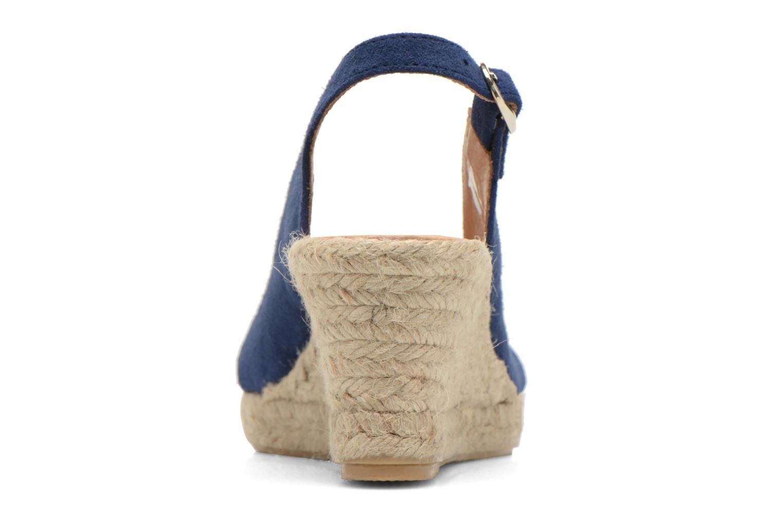 Sandales et nu-pieds Georgia Rose Daloup Bleu vue droite