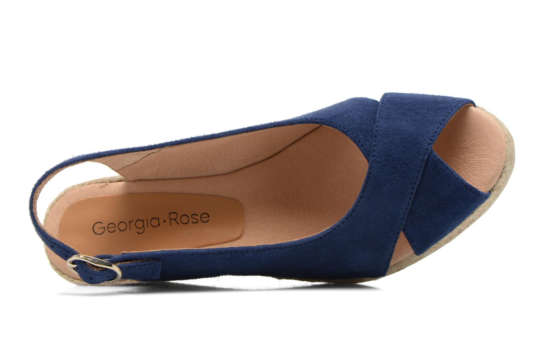Sandales et nu-pieds Georgia Rose Daloup Bleu vue gauche