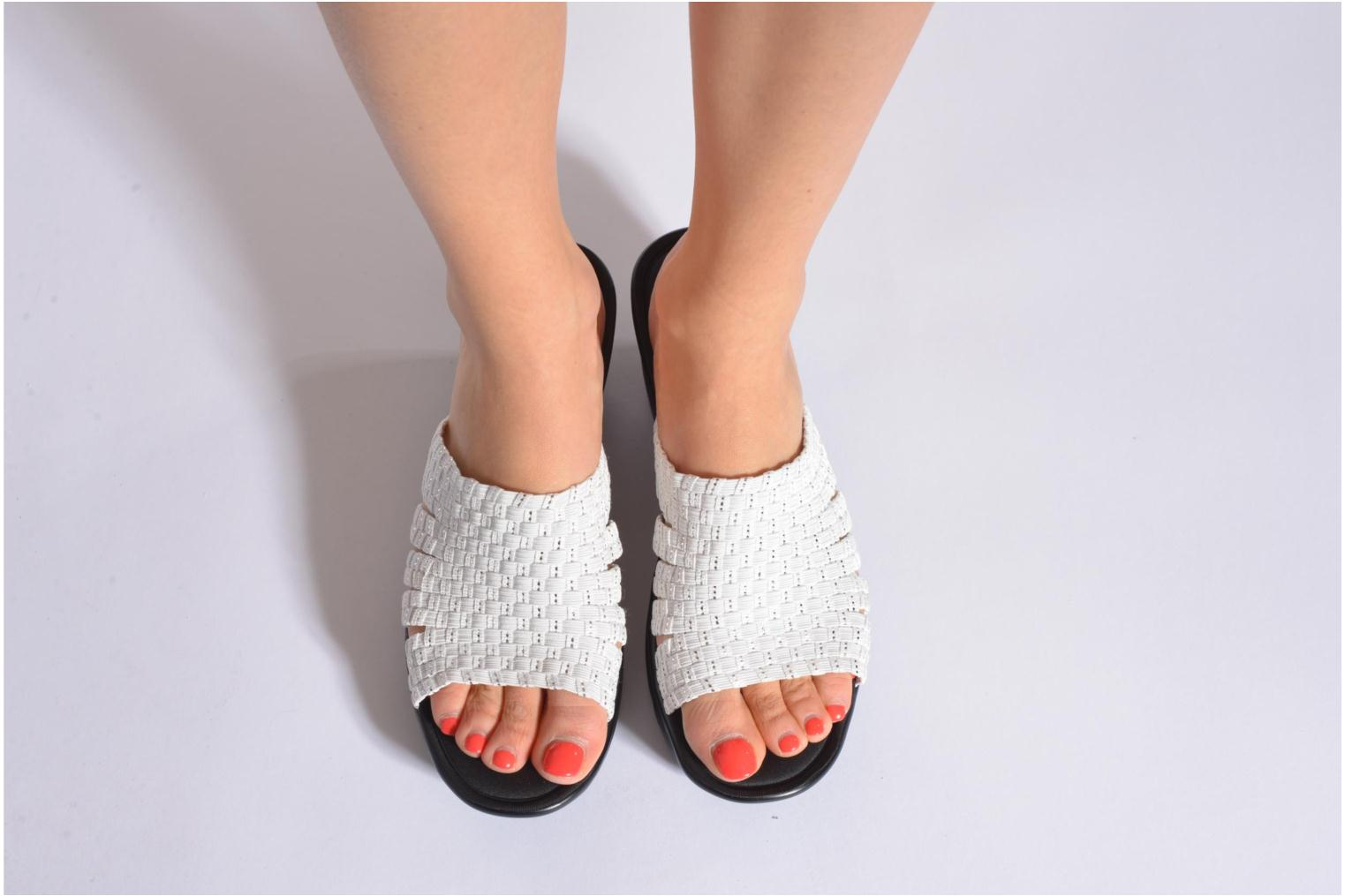 Mules & clogs Skechers Parallel - Milk & Honey 38458 White view from underneath / model view