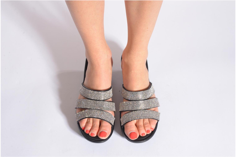 Clogs & Pantoletten Skechers Parallel - Sparkle Eyes 38462 schwarz ansicht von unten / tasche getragen