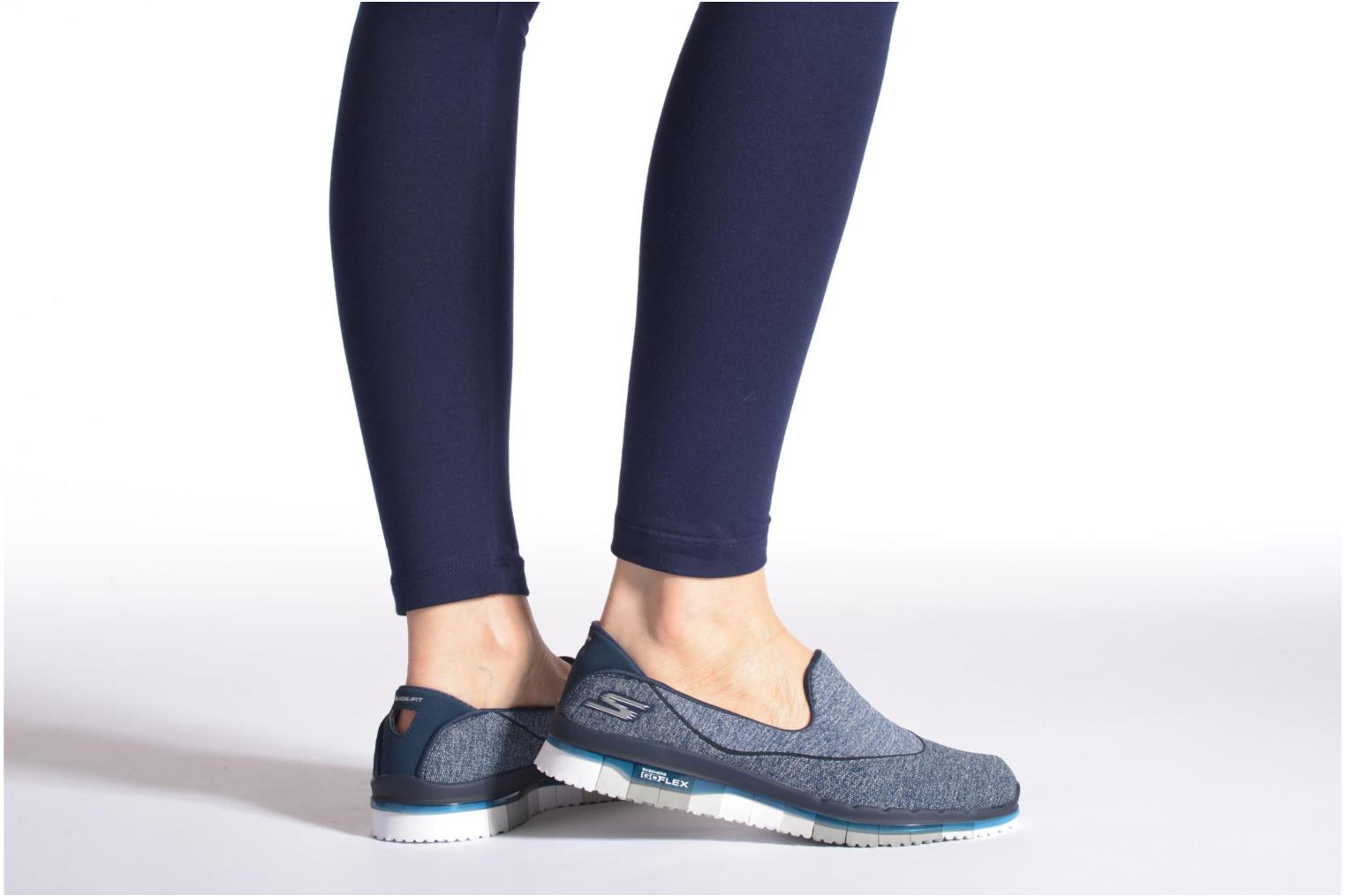 Sport shoes Skechers Go Flex 14010 Black view from underneath / model view