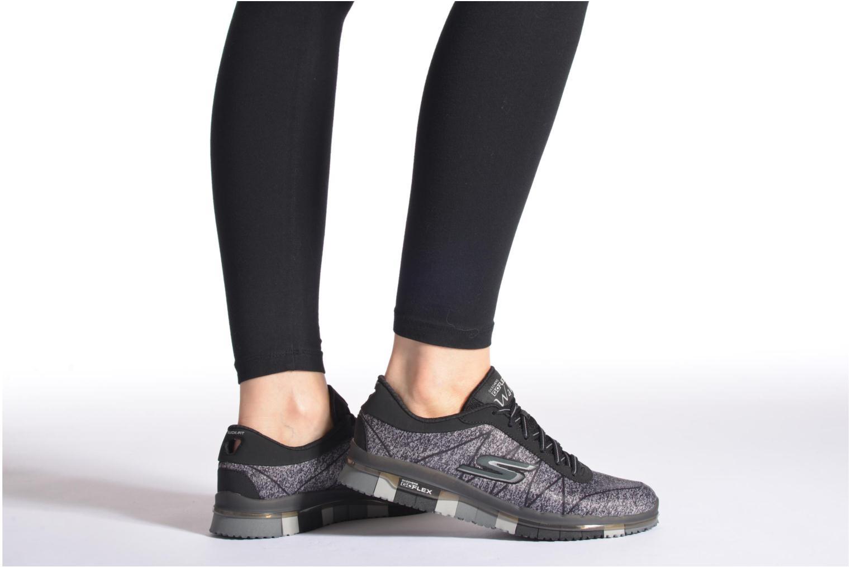 Chaussures de sport Skechers Go Flex - Ability 14011 Rose vue bas / vue portée sac