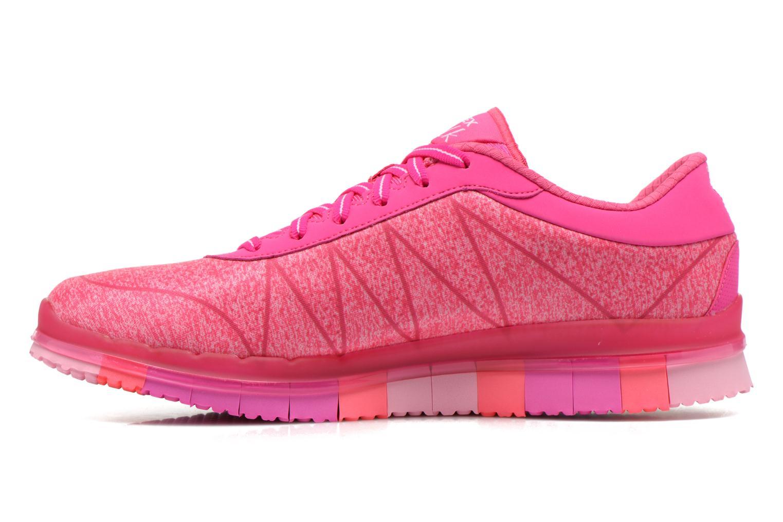 Chaussures de sport Skechers Go Flex - Ability 14011 Rose vue face