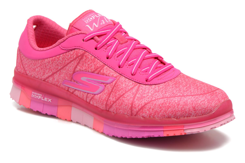Chaussures de sport Skechers Go Flex - Ability 14011 Rose vue détail/paire