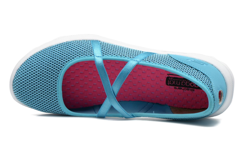 Ballerines Skechers On-The-Go - Point 13811 Bleu vue gauche