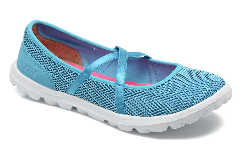 Ballerines Skechers On-The-Go - Point 13811 Bleu vue détail/paire