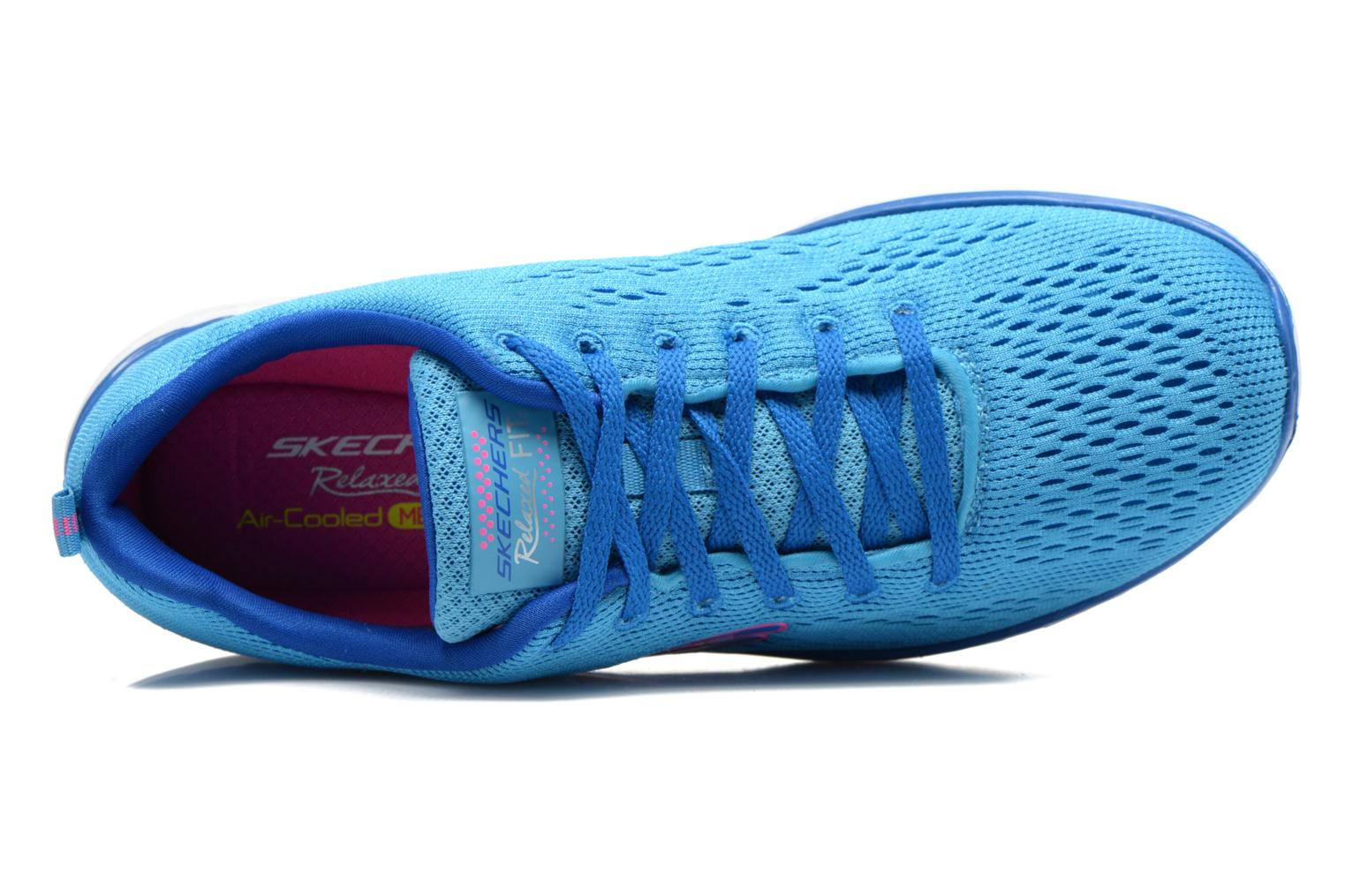 Sportschoenen Skechers Valeris-Backstage Pass 12221 Blauw links