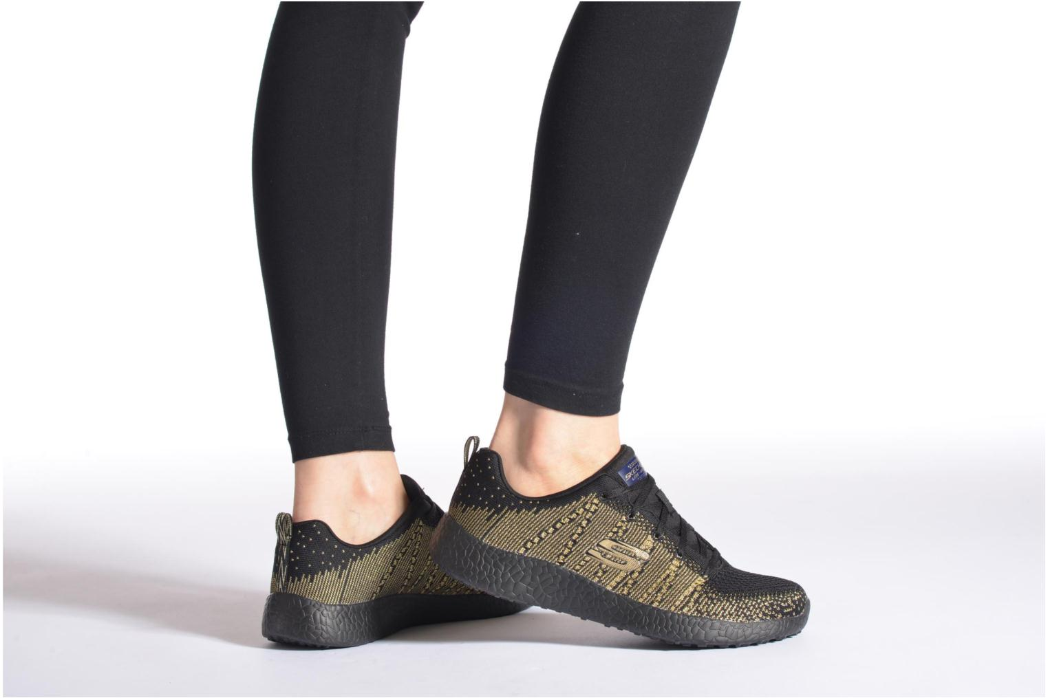 Sport shoes Skechers Burst - First Glimpse 12438 Black view from underneath / model view