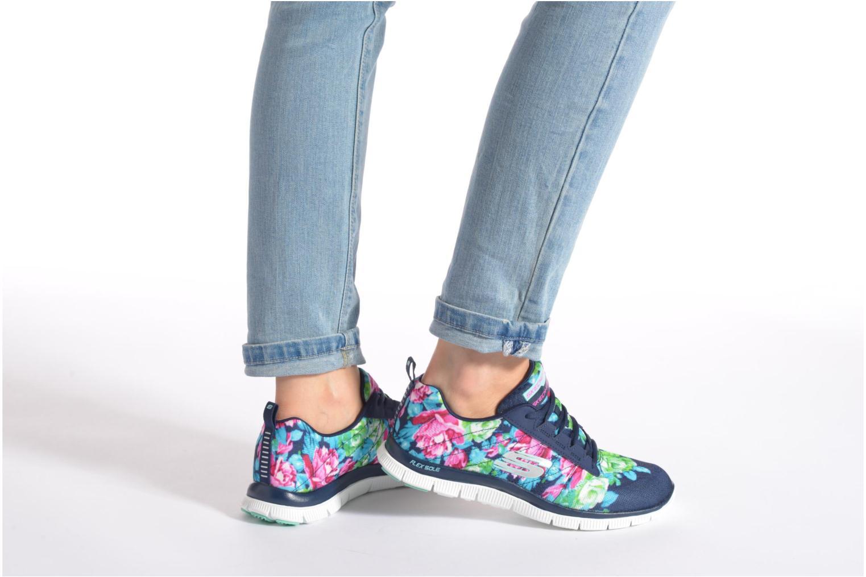 Chaussures de sport Skechers Flex Appeal- Wildflowers 12448 Rose vue bas / vue portée sac