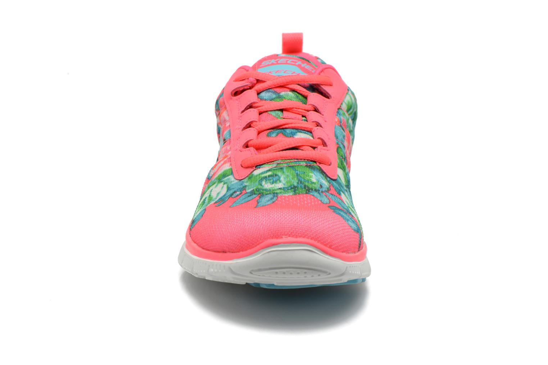 Scarpe sportive Skechers Flex Appeal- Wildflowers 12448 Rosa modello indossato