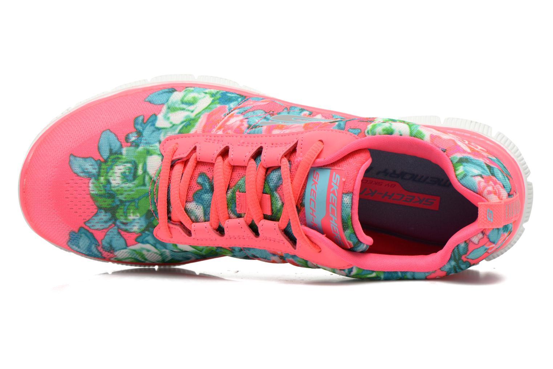 Scarpe sportive Skechers Flex Appeal- Wildflowers 12448 Rosa immagine sinistra