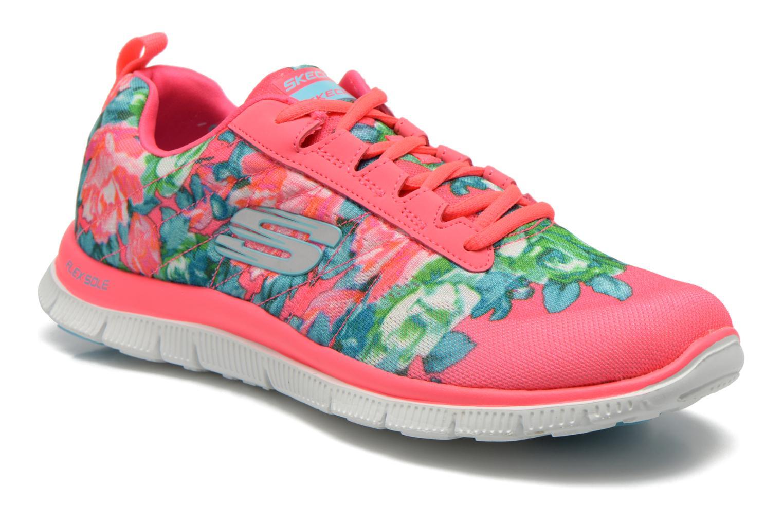 Chaussures de sport Skechers Flex Appeal- Wildflowers 12448 Rose vue détail/paire