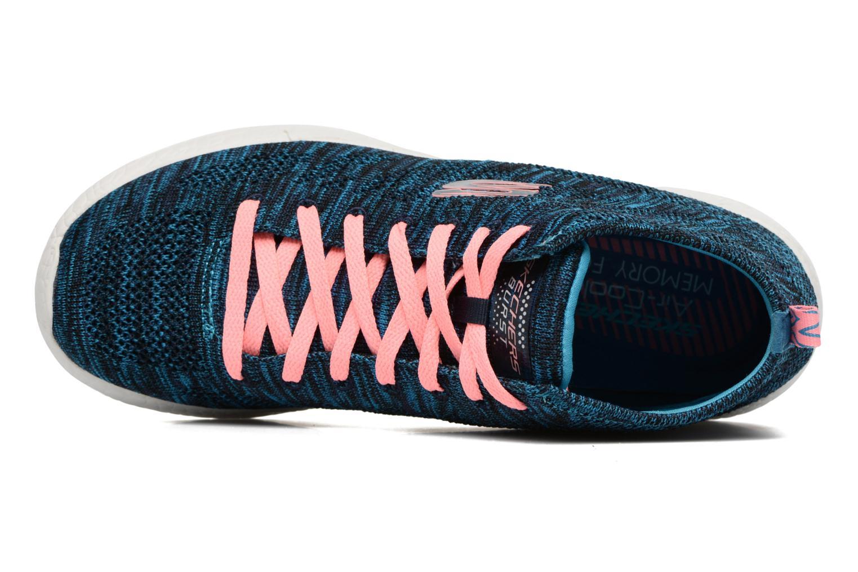 Chaussures de sport Skechers Burst- Divergent 12730 Bleu vue gauche