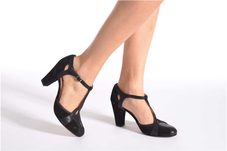 High heels San Marina Mocata Black view from underneath / model view