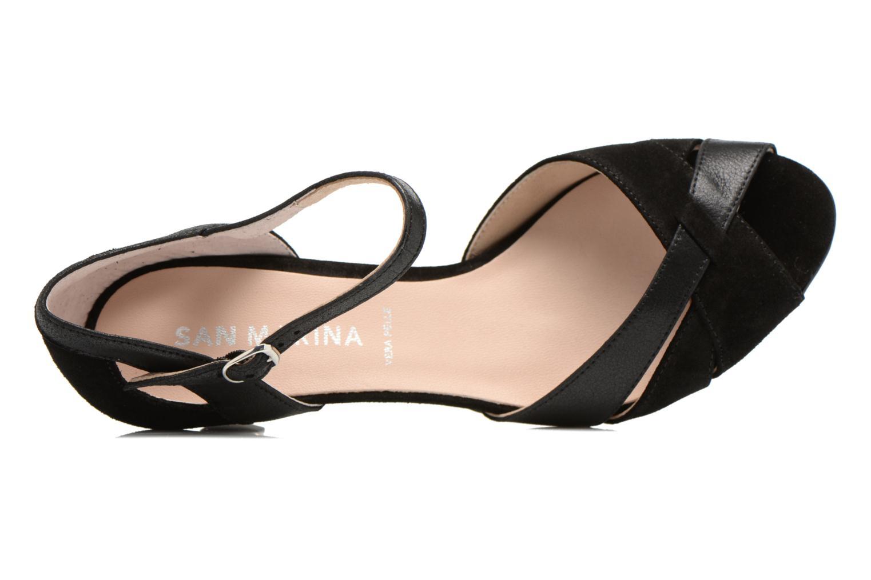 Zapatos de tacón San Marina Mitona Negro vista lateral izquierda