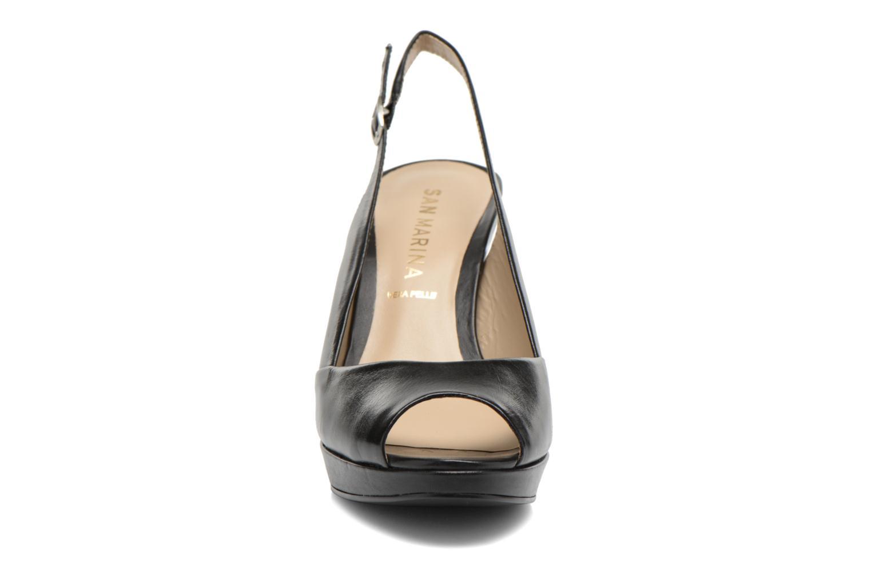 Sandales et nu-pieds San Marina Nardo Noir vue portées chaussures