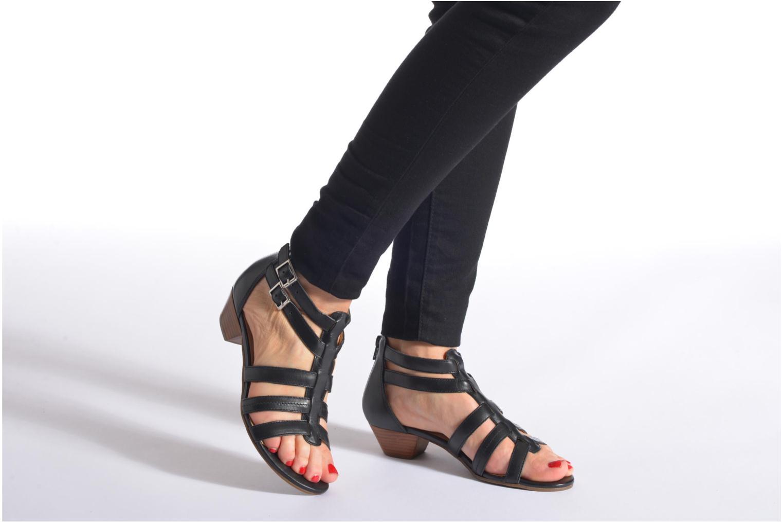 Sandales et nu-pieds San Marina Vurina Noir vue bas / vue portée sac