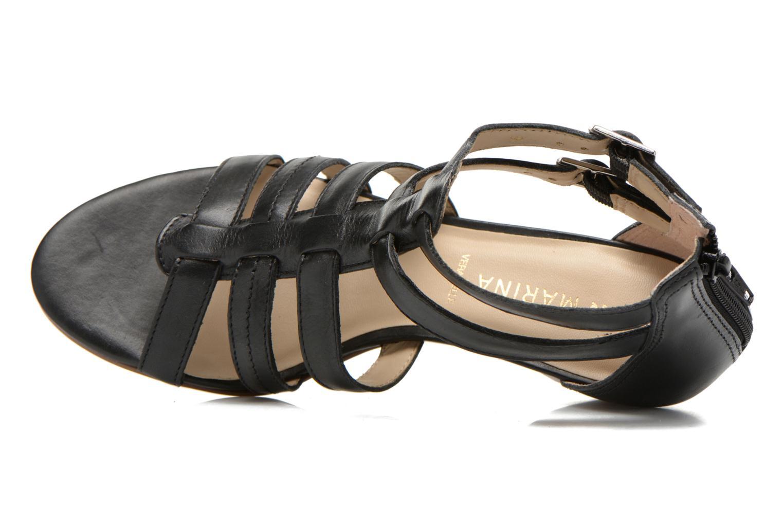 Sandales et nu-pieds San Marina Vurina Noir vue gauche