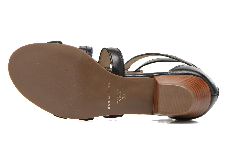 Sandales et nu-pieds San Marina Vurina Noir vue haut