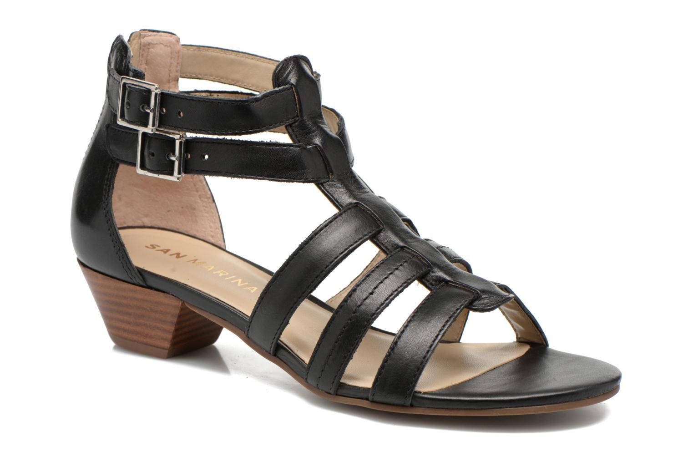 Sandales et nu-pieds San Marina Vurina Noir vue détail/paire