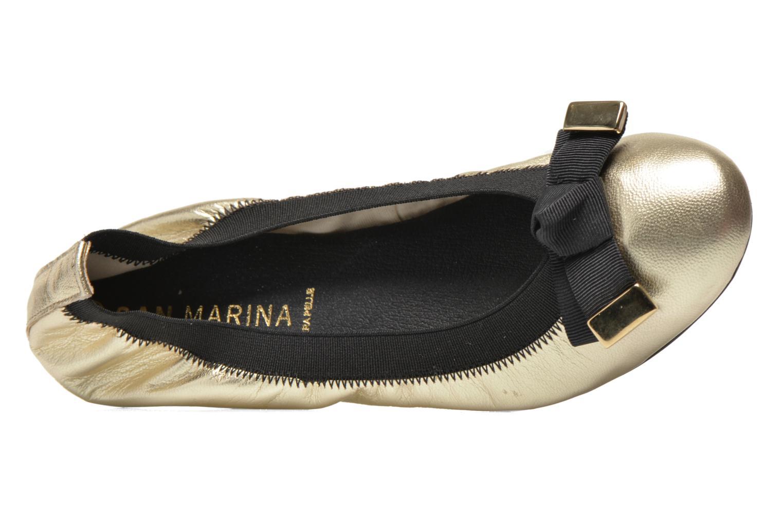 Ballerines San Marina Lesa/Met Or et bronze vue gauche