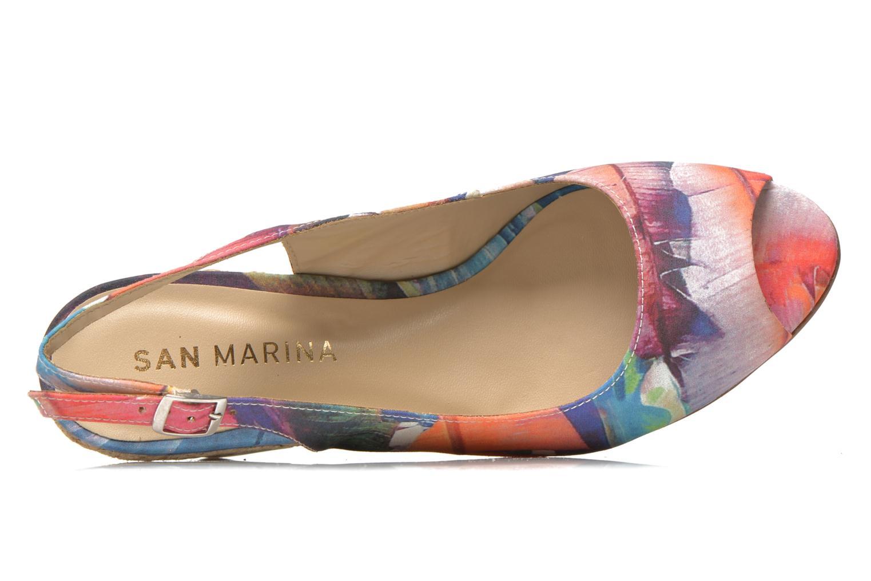 Sandales et nu-pieds San Marina Navaja/Tiss Multicolore vue gauche