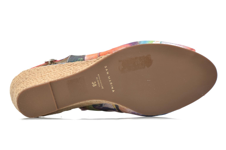 Sandales et nu-pieds San Marina Navaja/Tiss Multicolore vue haut